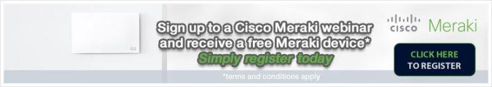 Register for a Cisco Meraki webinar and receive a free switch