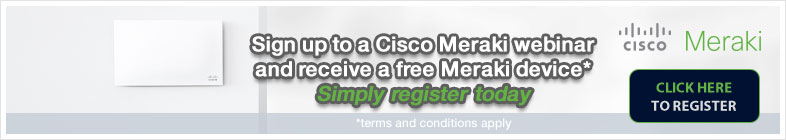 Register for a Cisco Meraki webinar and receive a free switch