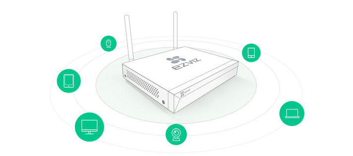 Ezviz X5C-4 Wireless NVR with HDMI/VGA Output   Comms Express