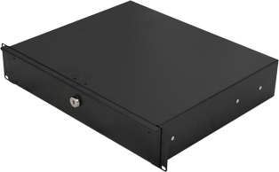 2U Lockable 19 Inch Rackmount Drawer