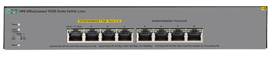 HPE OfficeConnect 1920S 8G PPoE+ Switch