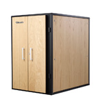 Usystems 12u 1100mm Deep UCoustic 9210i Sound Proof Server Cabinet,Active, Light Oak