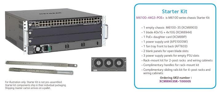 M6100-44G3-PoE+ Bundle Overview