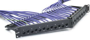 Excel 24-port Keystone V Patch Panel Frame