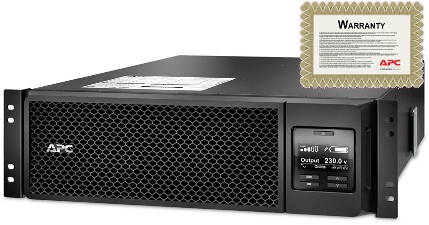 APC SRT5KRMXLI-6W Smart-UPS 5000VA 230V Rack Mount c/w 6 Yr Warrant