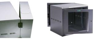 9u 550mm Deep Wall Mount Data Cabinet Rack 2 Part Rack