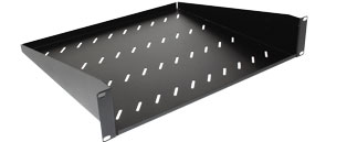 400mm Deep Front Mounting Modem Shelf (2u)