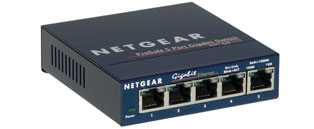 Netgear GS105 5-port Gigabit Ethernet Switch 10/10