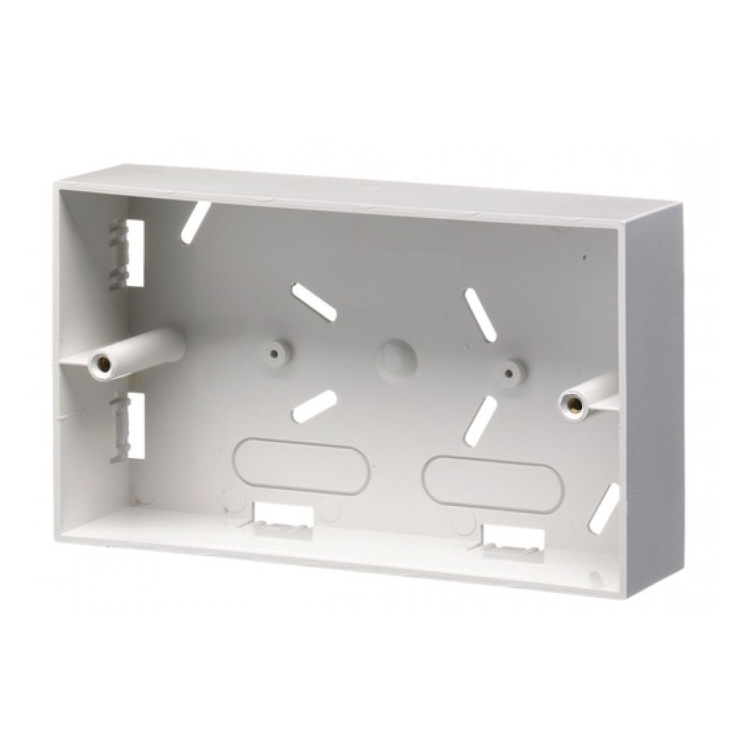 Double Gang Surface Mount Back Box (37mm)
