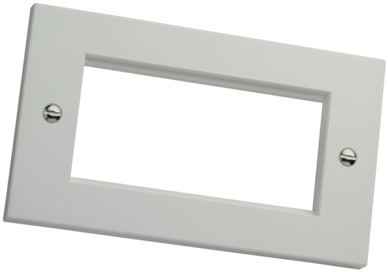Excel Double Gang Faceplate Flat