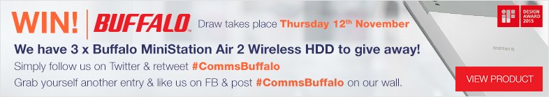 Win a 1 of 3 Buffalo Technology MiniStation Air 2