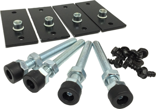 Usystems 7210 Levelling Feet & Plate (Set of 4)