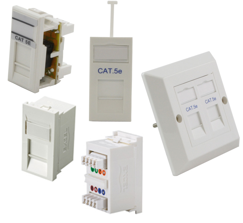 Cat5e Modules, Outlets And Jacks