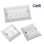 Excel Cat6 Module & Faceplate Kits