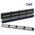 Cat6 Patch Panels 24 & 48 Way Panels