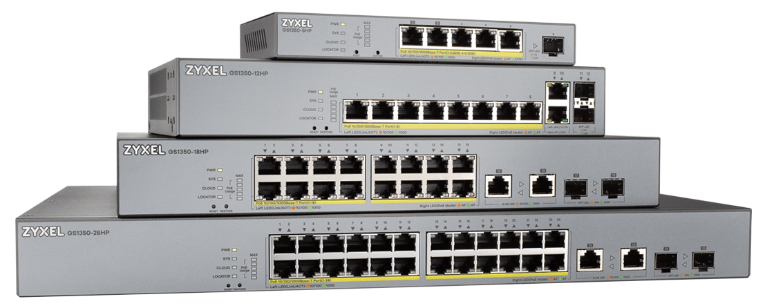 Zyxel GS1350 Series Smart Managed Switches