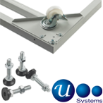 Usystems 4210 Levelling Feet and Castors