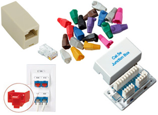 RJ45 Adapters & Couplers, Plugs & Boots, Locking Devices & Modules
