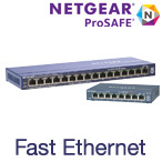Netgear Fast Ethernet Unmanaged Desktop Switches