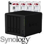 Synology DiskStation DS418play with WD Red Hard Drives