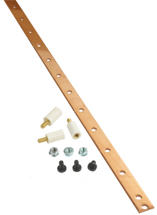 Usystems 1870mm Bus Bar plus stand fixings - for 42U & 48U