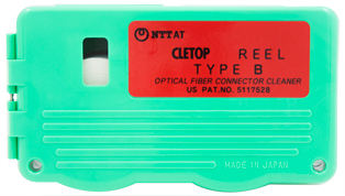 Cletop Type B Reel Fibre Cleaner cw 1 x White Tape Reel