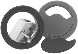5 Pack Circular Floor Cable Grommet - 75mm (2.9 in)