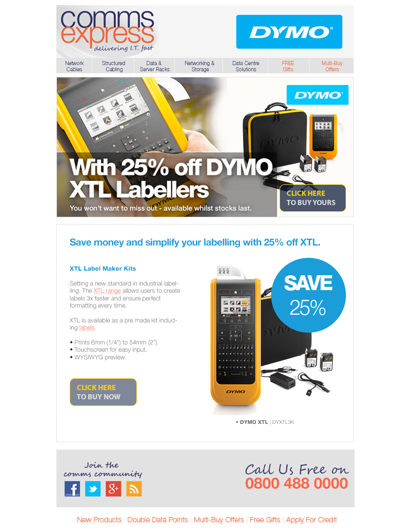Save 25 on DYMO XTL Labellers WHILST STOCKS LAST