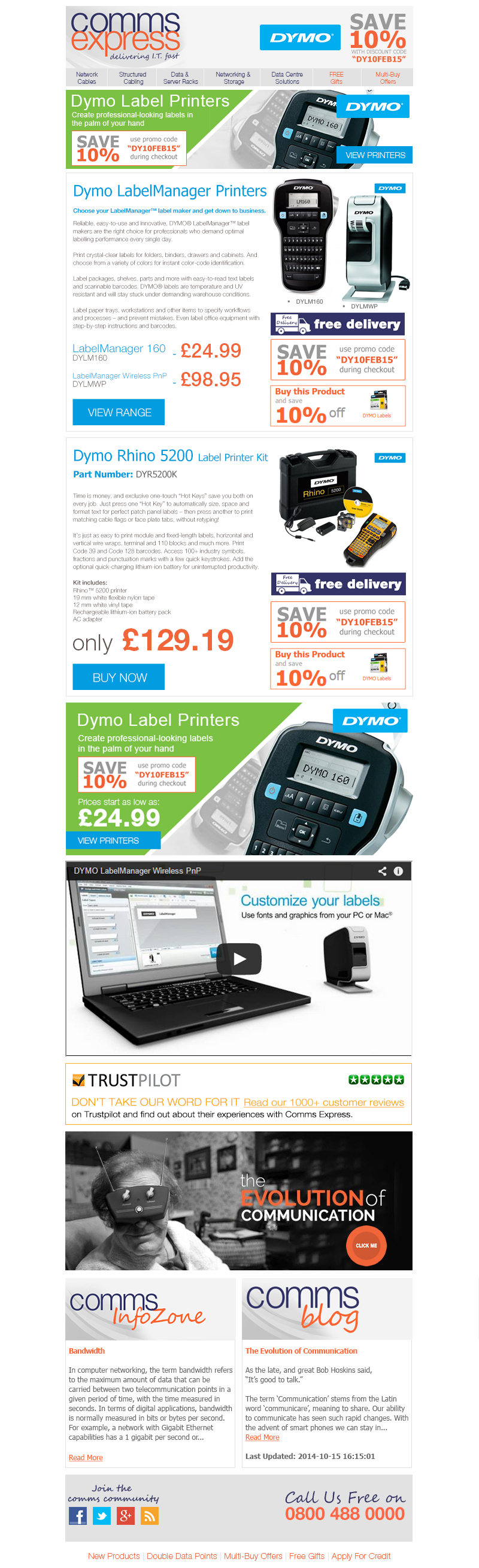 Receive a 10 Percent Discount on DYMO Label Printers