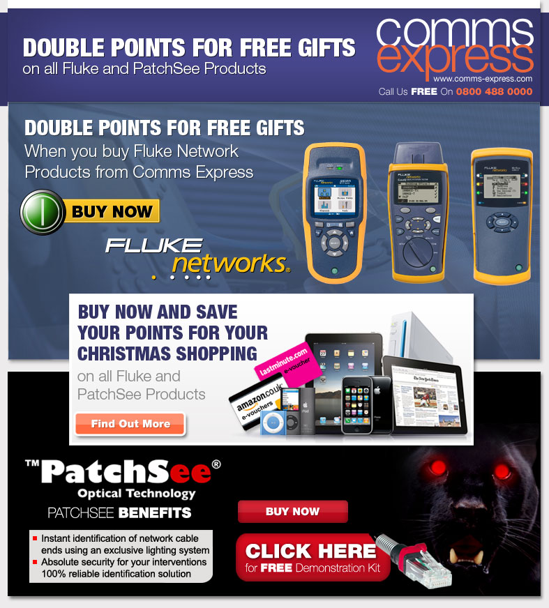 Double Points on Fluke Networks and PatchSee Products