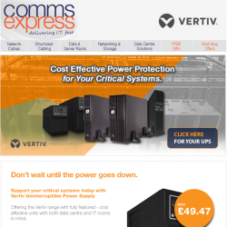 Cost Effective Power Protection from VERTIV For Your Cr