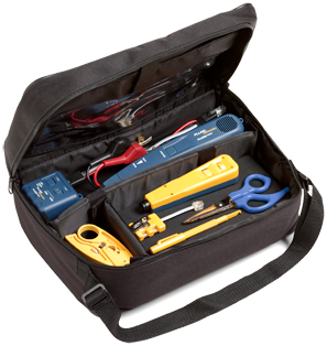 Fluke Networks Soft Case Electrical Contractor Telecom Kit