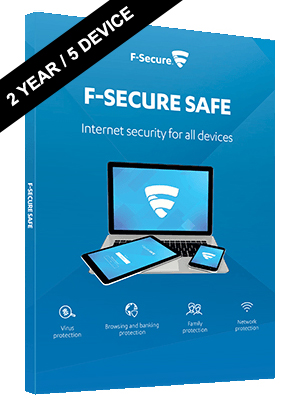 F-Secure SAFE Internet Security Digital License - 2 Years, 5 Devices