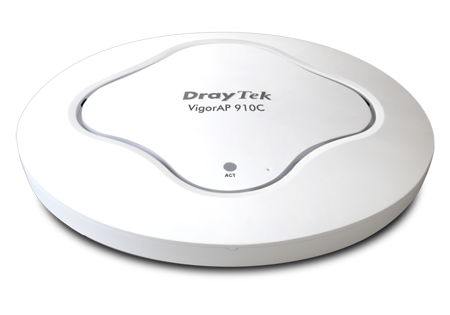 Draytek Vigor AP 910C Access Point For Ceiling or Wall 80211ac simultaneous dual band PoE Gigabit