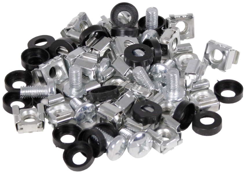 CE M6 Cage Nuts & Bolts - (Pack of 50) | Comms Express