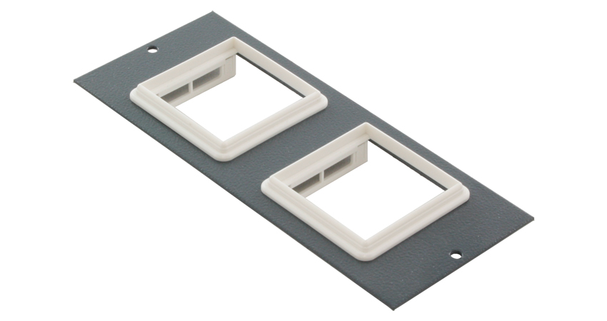 Euromod plate for 3 compartment floor box comms express for 1 compartment floor box