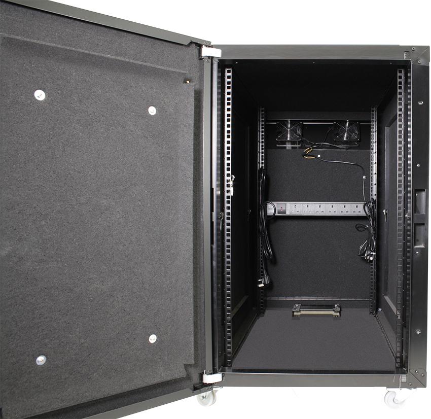 Usystems 12u 600mm X 1100mm Sound Proof Server Cabinet