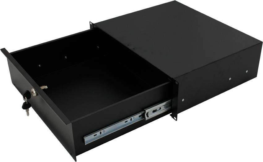ce 3u lockable 19 inch rackmount drawer comms express. Black Bedroom Furniture Sets. Home Design Ideas