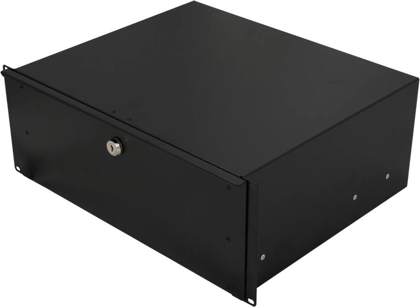 4U Lockable 19 Inch Rackmount Drawer