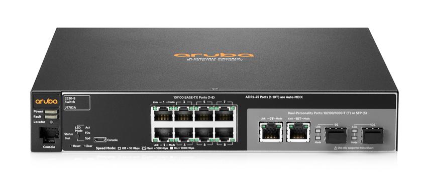 HPE Aruba J9783A Aruba 2530-8 Switch - 8 Port 10/100 Managed L2 Swi