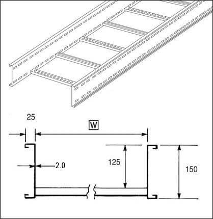Unistrut U15 Vsp H Unistrut U15 Cable Ladder 150mm Vert