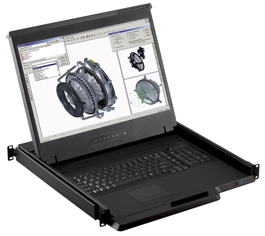"19"" Wide Screen LCD Key Drawer with optional integrated KVM Switch"