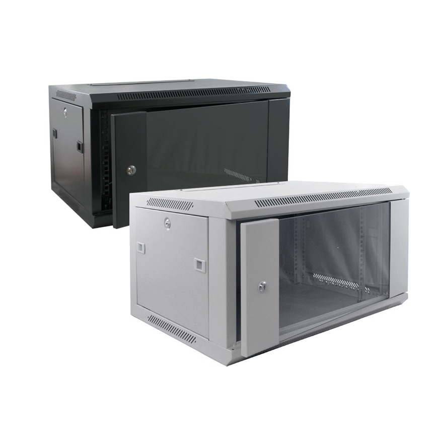 6u wall mounted data cabinet cabinets matttroy for Kitchen cabinets 500mm depth