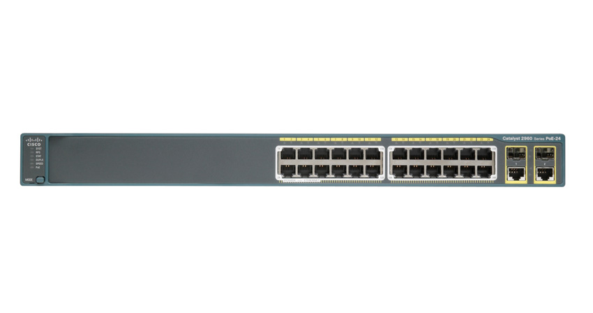 CISCO WS-C2960-24PC-L Catalyst Switch 24 Ethernet 10/100 PoE ports