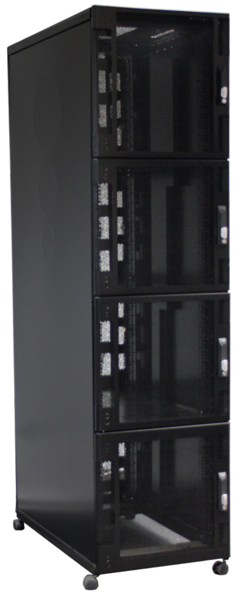 Usystems Uspace 48U 6210 Co-Location 4 Compartment Cabinet 600mm x 1000mm in Black