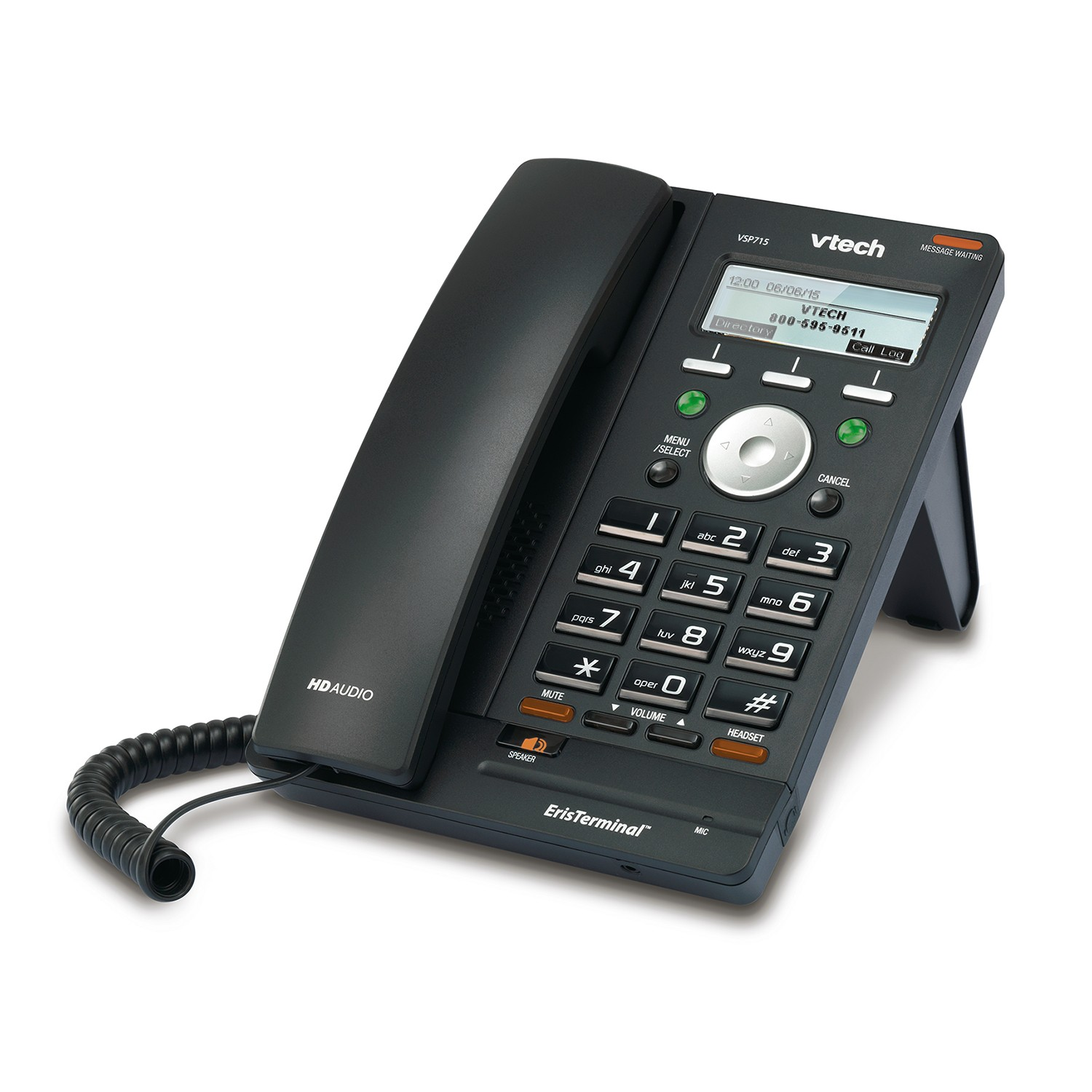 Draytek VSP715A Desk Phone by Vtech Compact entry level phone for IP PBX. PoE or add PSU
