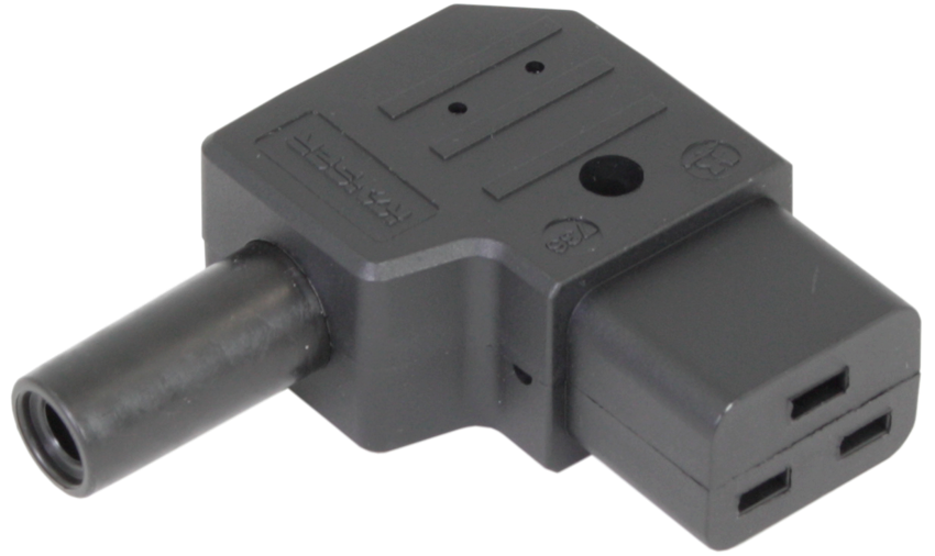 IEC C19 Right Angled Rewireable Connector