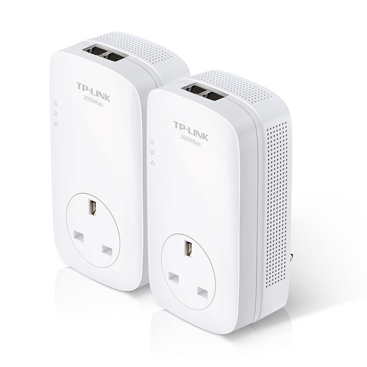 TP-link AV2000 2-Port Gigabit Passthrough Powerline Starter Kit