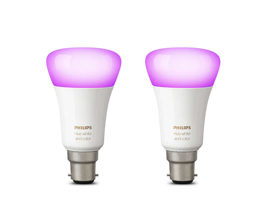 Philips Hue White and Colour Ambiance Twin Pack (B22)