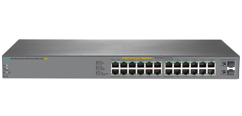 HP J9983A E 1820-24G-PoE+ Switch - 24 Port Gigabit PoE+ (185W) Smar